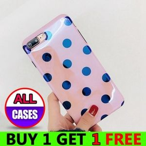 Accessories - *NEW iPhone X/XS/7/8/Plus Pink Dot Case